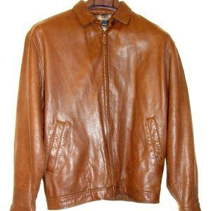 RALPH LAUREN POLO MENS BROWN LEATHER JACKET SIZE M